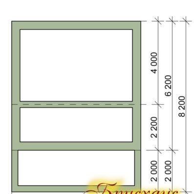 """Проект дома 6х6 с террасой №Б- 18 - """"Яхрома"""""""