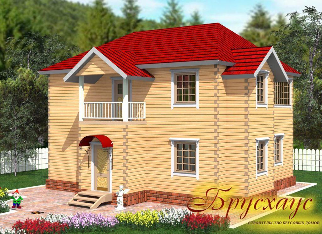 Проект дома из бруса 10х11 №Б-23 — «Мичуринск»