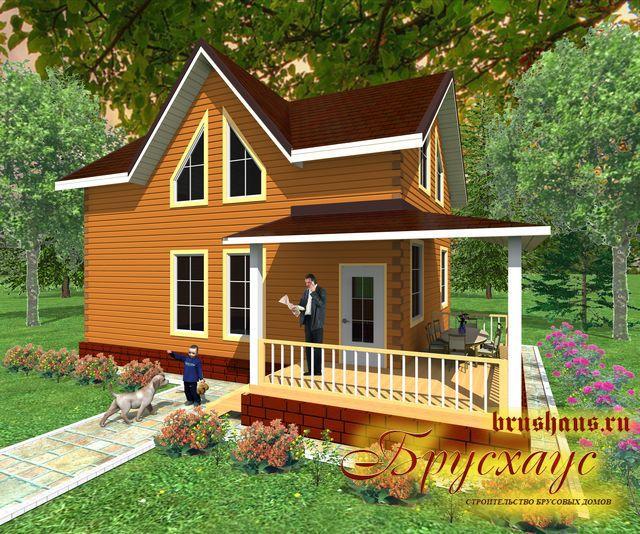 Проект дома из бруса 7х9 №Б-50 — «Галич»