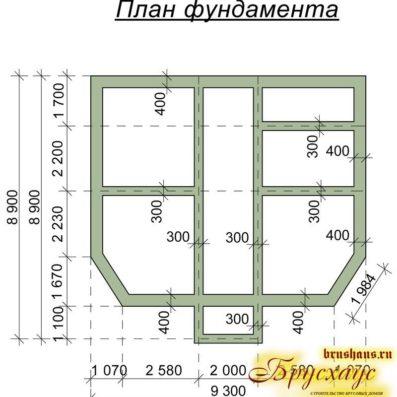 "Проект дома из бруса 8,8х9 №Б-34 - ""Воскресенск"""