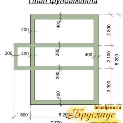"""Проект дома из бруса 6х8 №Б-51 - """"Екатеринбург"""""""