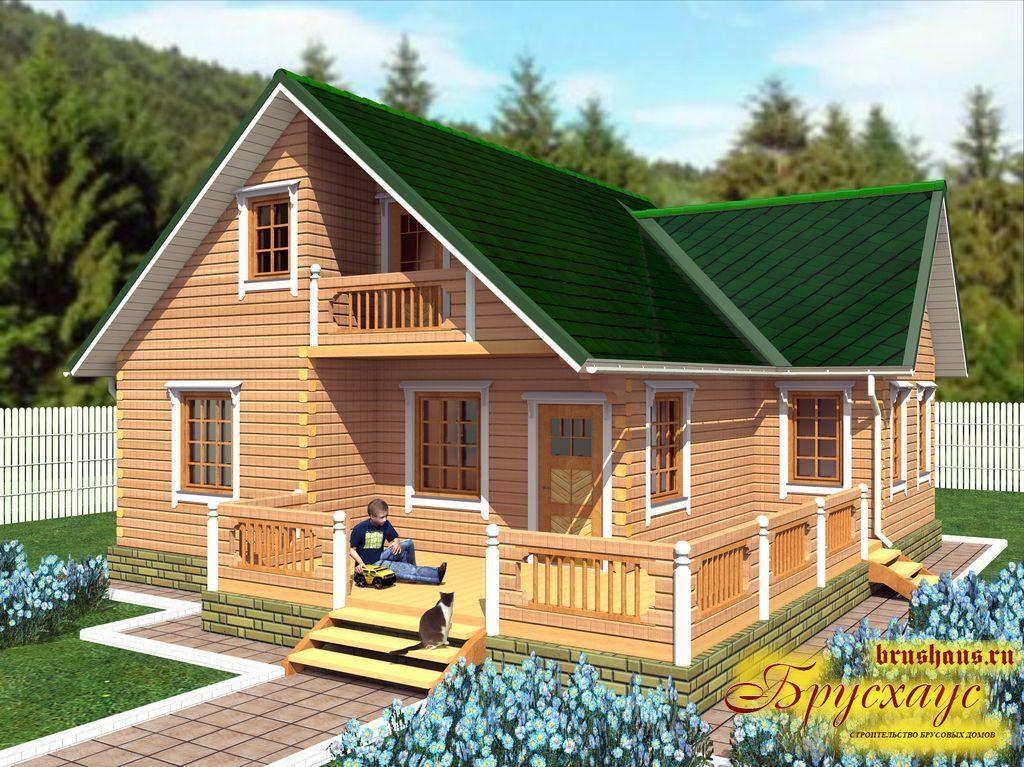 Проект дома из бруса 10х10 №Б-31 — «Домодедово»