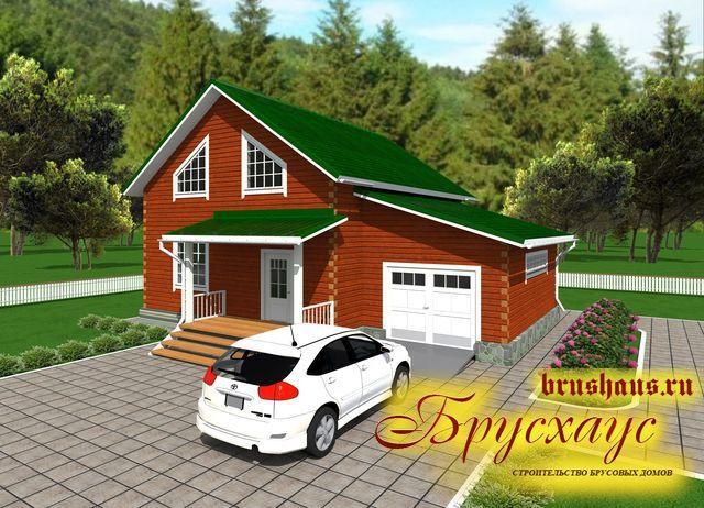 Проект дома из бруса 11,5х12 №Б-49 — «Иваново»