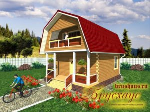"Проект дома из бруса 6х6 №Б-45 - ""Ярославль"""