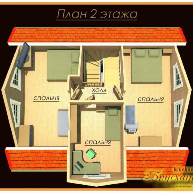 """Проект дома из бруса 8х9 №Б-30 - """"Обнинск"""""""