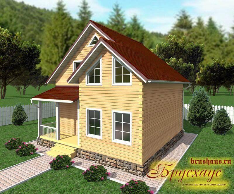 Проект дома из бруса 8х8 №Б-42 — «Рязань»