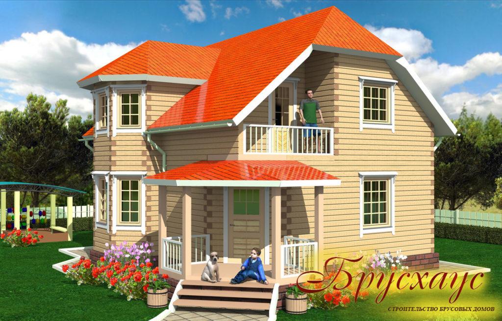 Проект дома из бруса 10,6х8,6 №Б-25 — «Истра»