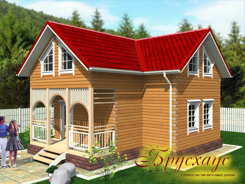 Проект дома из бруса 9х8,5 №Б-21 — «Чехов»