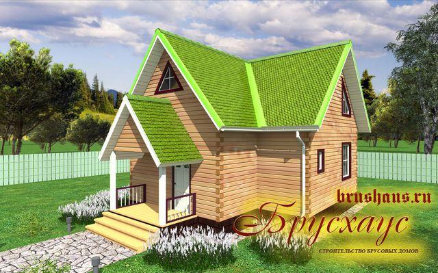 Проект дома из бруса 9х9,7 №Б-46 — «Вологда»