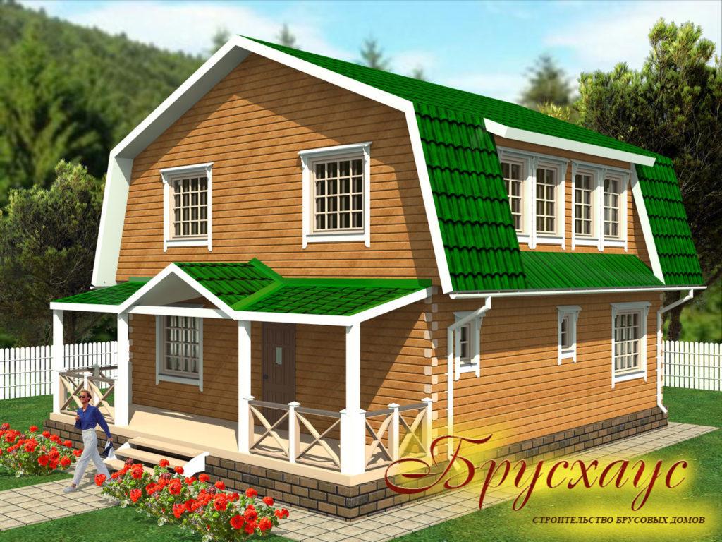 Проект брусового дома 9х9 №Б- 20 — «Сергиев Посад»