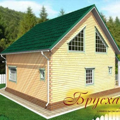 "Проект дома из бруса 10х10 №Б-26 - ""Александров"""