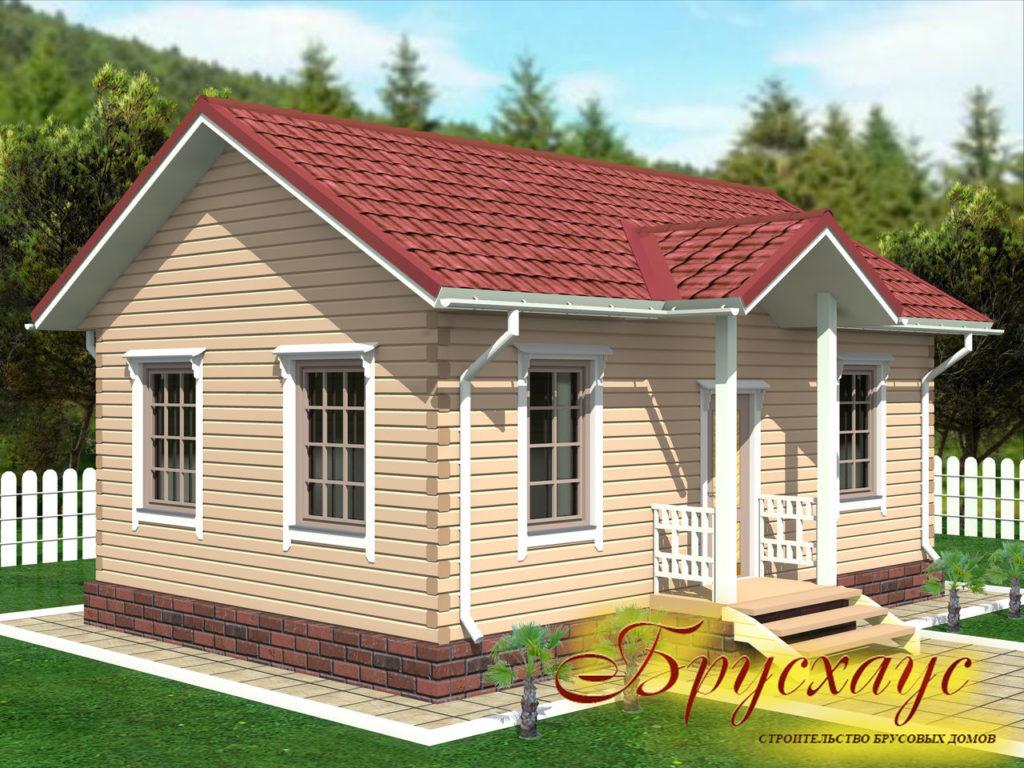 Проект дома из бруса 6х9 №Б- 14 — «Можайск»