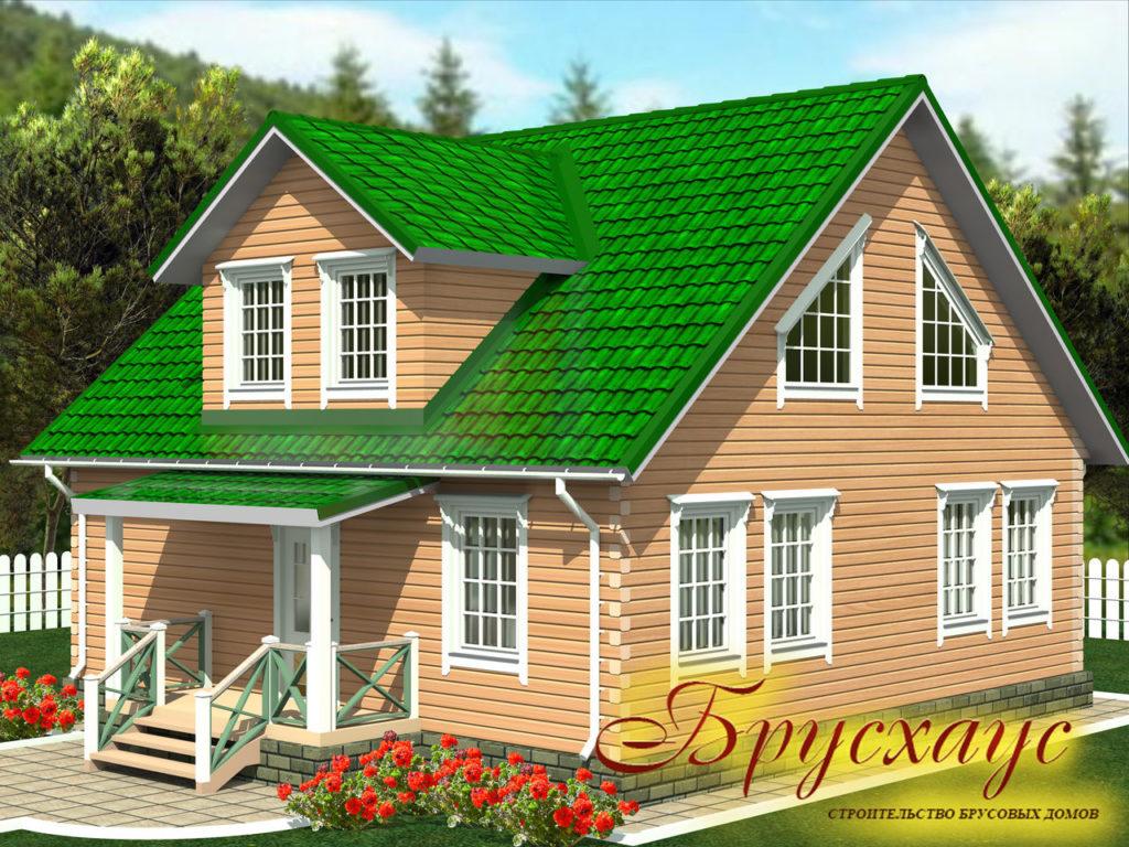 Проект дома из бруса 10х10 №Б-13 — «Ясногорск»