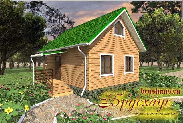 Проект дома из бруса 6х8 №Б-51 — «Екатеринбург»