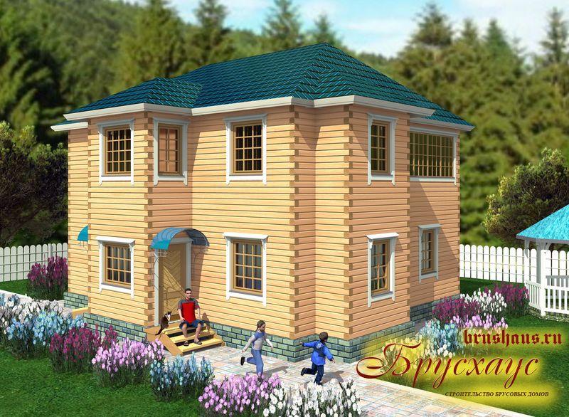 Проект дома из бруса 10х11 №Б-37 — «Ногинск»