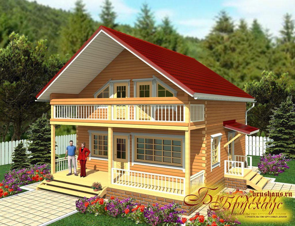 Проект брусового дома 9х10 №Б-29 — «Митино»