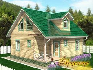 """Проект дома из бруса 9х8 №Б-27 - """"Люберцы"""""""