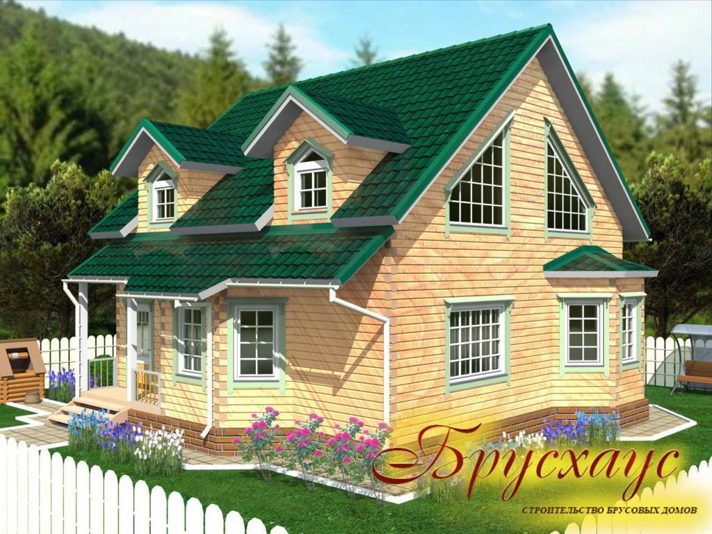 Проект дома из бруса 10х10 №Б-26 — «Александров»