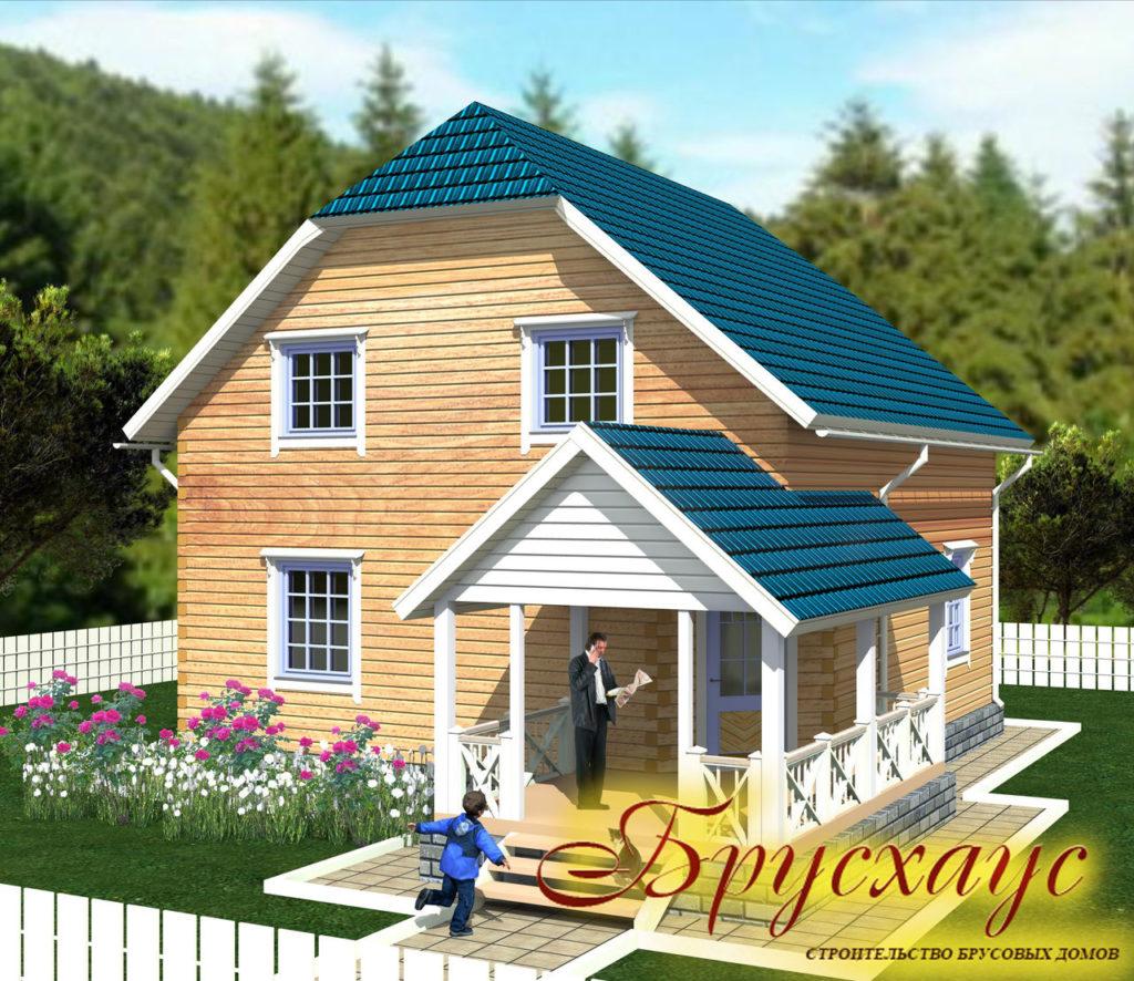 Проект дома из бруса 9х8 №Б-24 — «Арзамас»