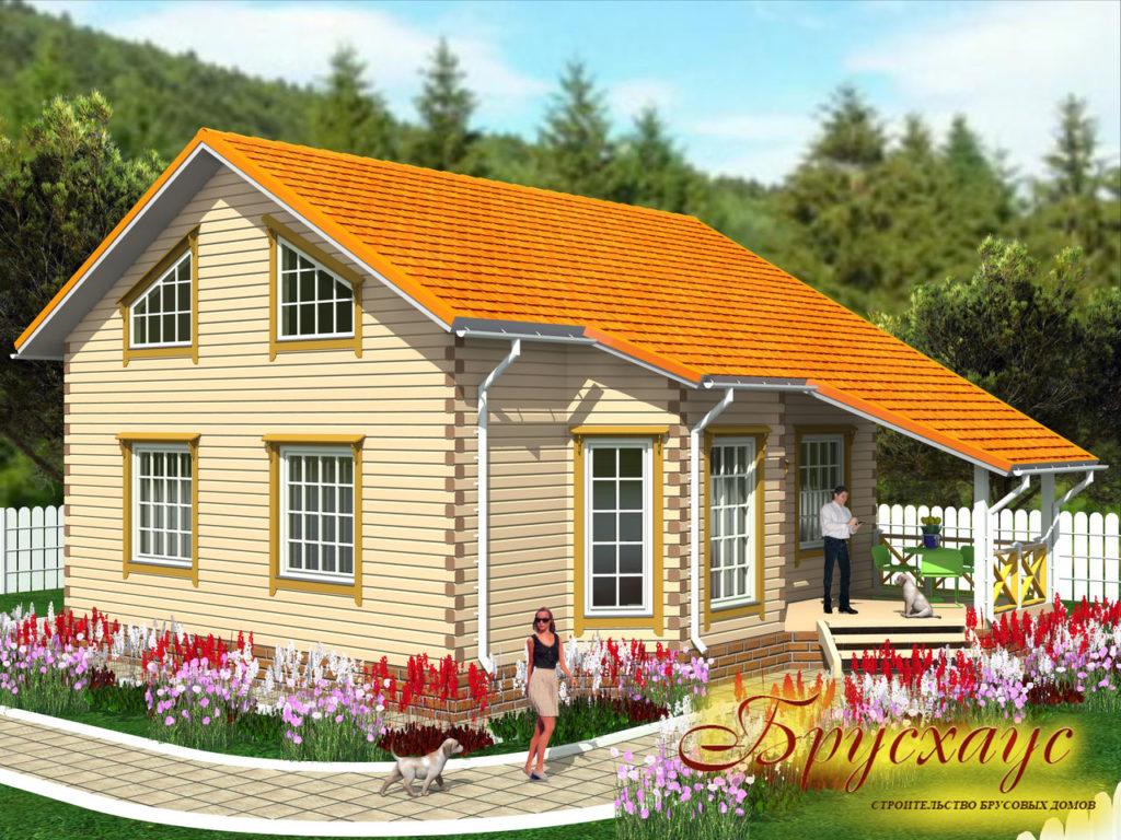 Проект дома из бруса 11х10 №Б-17 — «Клин»