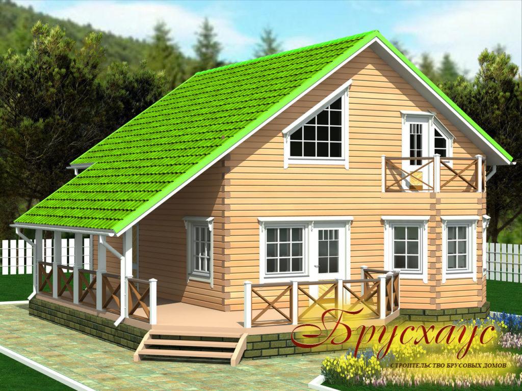 Проект дома из бруса 8х10,5 №Б-15 — «Руза»