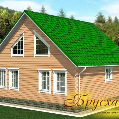 "Проект дома из бруса 10х10 №Б-13 - ""Ясногорск"""