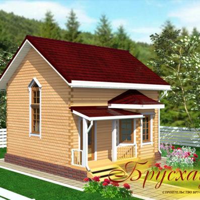 """Проект дома из бруса 7х8 с 2 эркерами №Б-32 - """"Терем"""""""