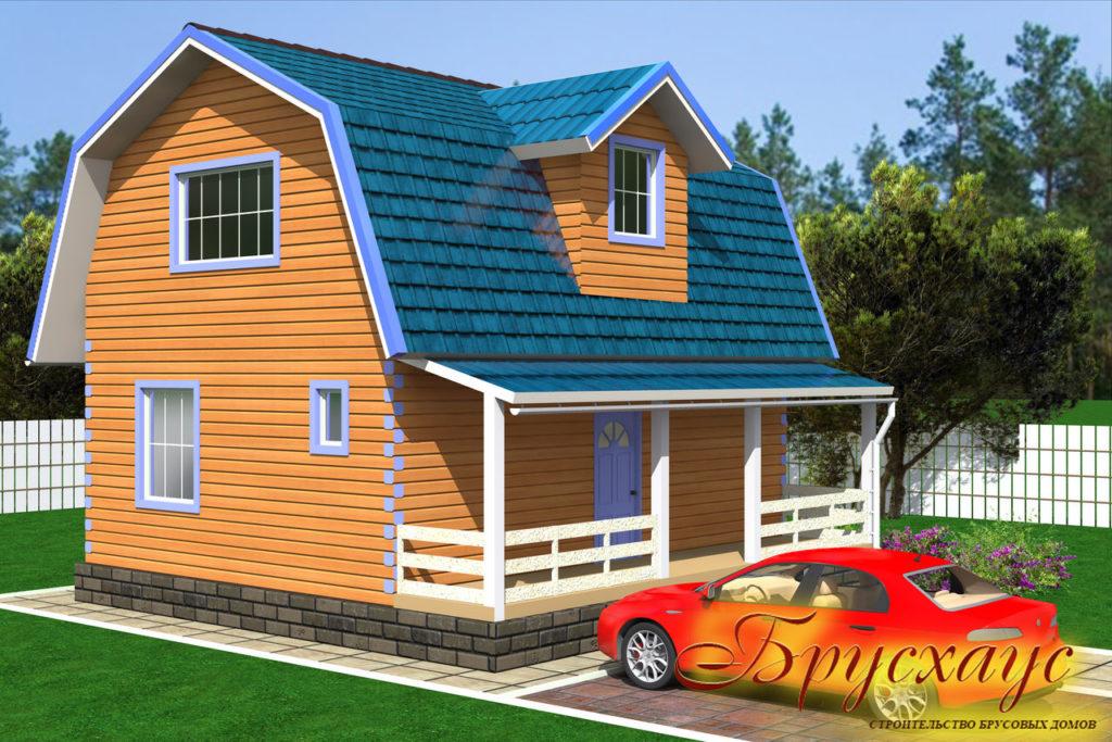 Проект брусового дома 6х8 №Б- 28 — «Коломна»