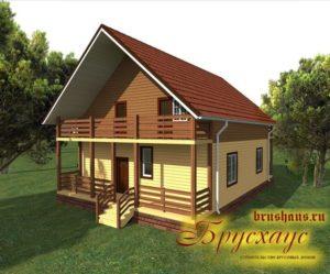 "Проект дома из бруса 9х9 №Б-52 - ""Кострома"""