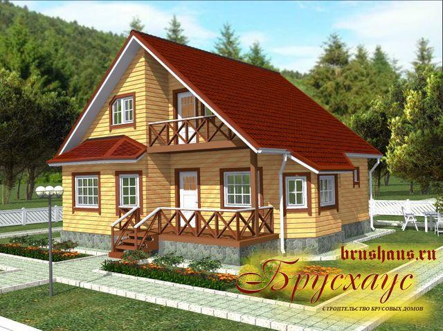 Проект дома из бруса 9х10 №Б-53 — «Москва»