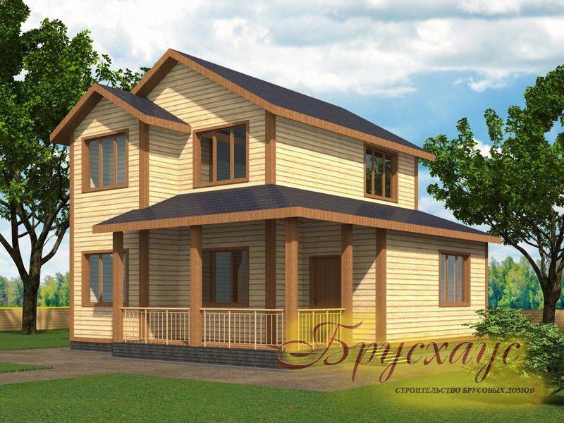 Проект дома из бруса 9.5х8.5 №Б-12 — «Серпухов»