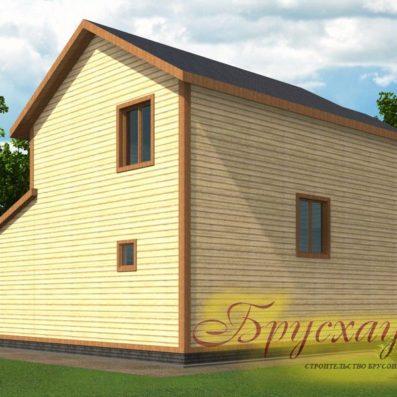 "Проект дома из бруса 9.5х8.5 №Б-12 - ""Серпухов"""