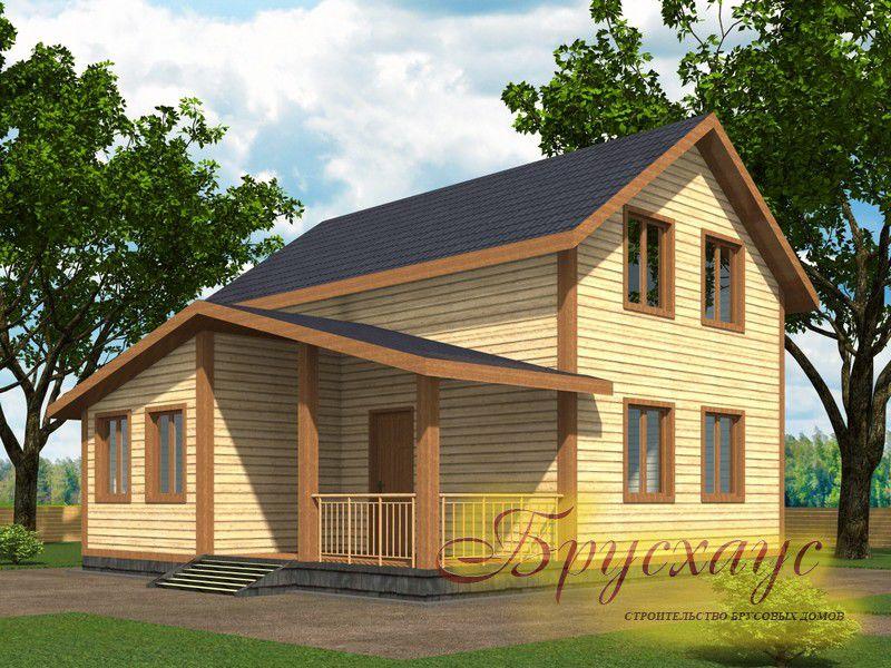 Проект дома из бруса 8х8 №Б-11 — «Химки»