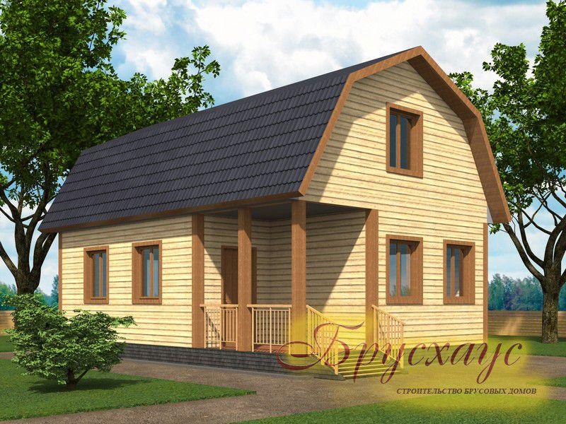 Проект дома из бруса 9х6 №Б-10 — «Пушкино»