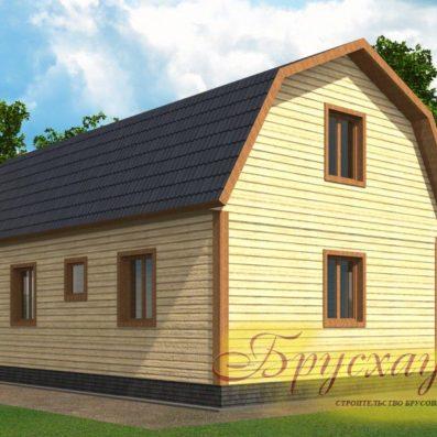 """Проект дома из бруса 9х6 №Б-10 - """"Пушкино"""""""