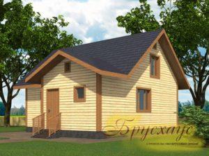 "Проект дома из бруса 8х8 №Б-09 - ""Мытищи"""