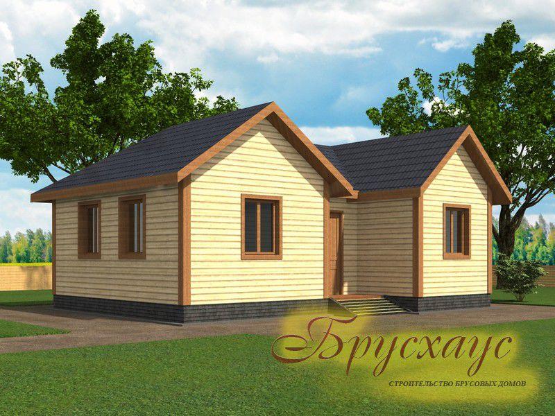 Проект дома из бруса 9х6 №Б-08 — «Раменское»