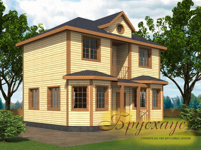 Проект дома из бруса 9х7 №Б-06 — «Наро-Фоминск»
