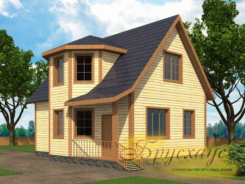 Проект дома из бруса 9х6 №Б-05 — «Звенигород»