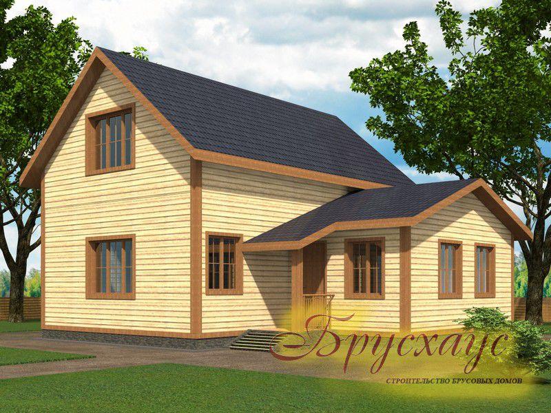 Проект дома из бруса 9х10.6 №Б-04 — «Долгопрудный»