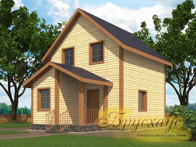 Проект дома из бруса 7.7х7 №Б-03- «Видное»