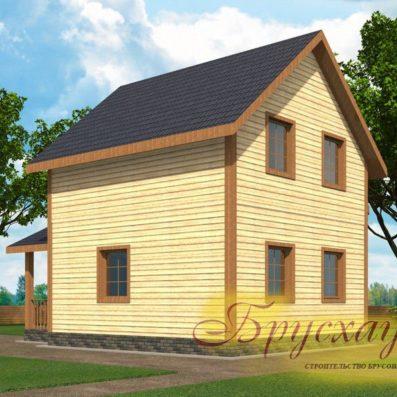 "Проект дома из бруса 7.7х7 №Б-03- ""Видное"""