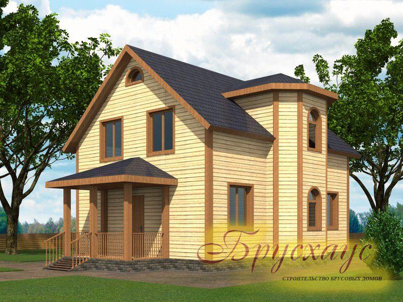 Проект дома из бруса 9х8.3 №Б-02 — «Волоколамск»