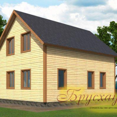 """Проект дома из бруса 9х8.3 №Б-02 - """"Волоколамск"""""""