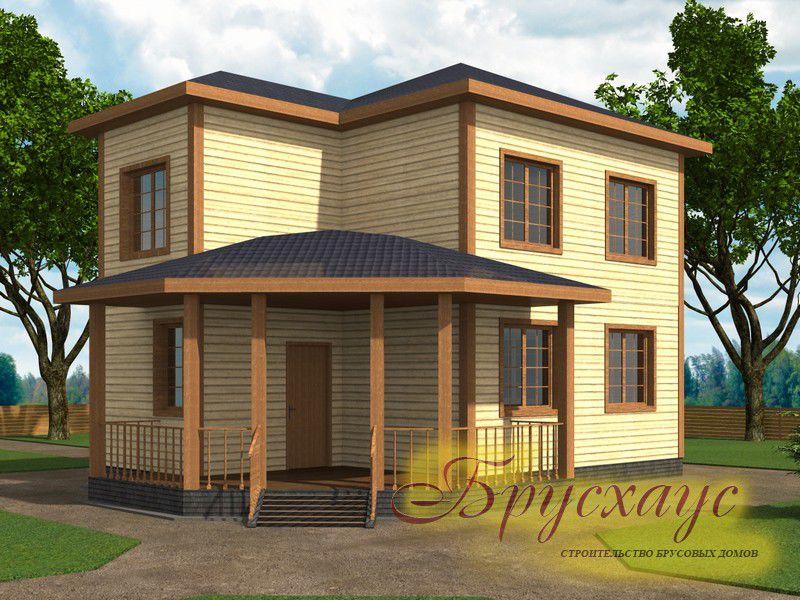 Проект дома из бруса 9х6 №Б-07 — «Щёлково»