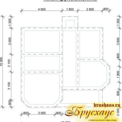 """Проект дома из бруса 9х10 №Б-53 - """"Москва"""""""