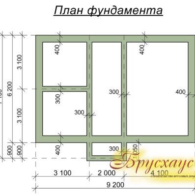"Проект дома из бруса 6х9 №Б- 14 - ""Можайск"""