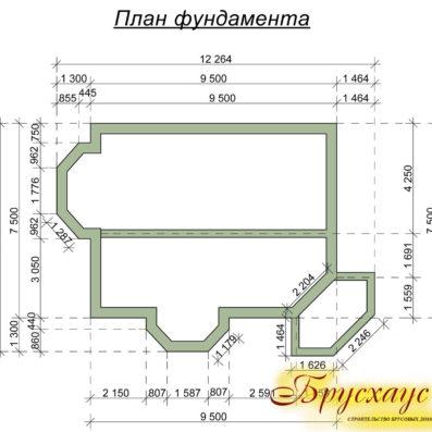 """Проект дома из бруса 10,6х8,6 №Б-25 - """"Истра"""""""