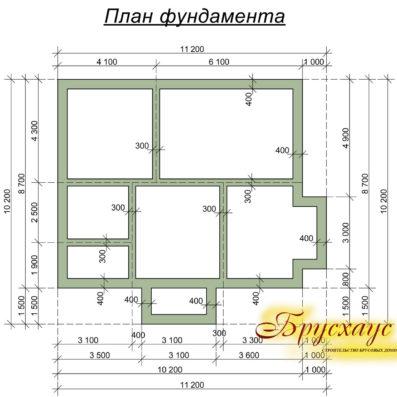 """Проект дома из бруса 10х11 №Б-23 - """"Мичуринск"""""""