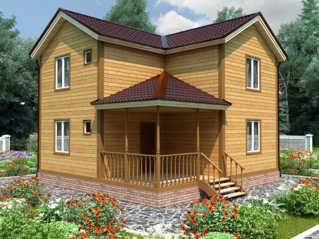 Проект дома из бруса 7,5х8 №Б-75 — «Верея»